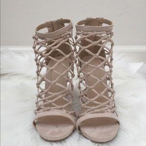 Caged Nude Heels